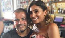عمرو دياب ودينا الشربيني يلتقيان لأول مرة منذ انفصالهما وهكذا استفزته هي - بالفيديو