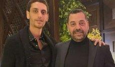 خاص الفن-عمر طارق العريان وخطيبته يغادران لبنان