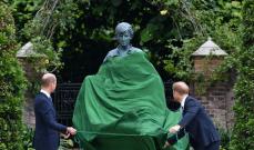 الأميران ويليام وهاري يجتمعان مجدداً لإزاحة الستار عن تمثال والدتهما الأميرة ديانا – بالصور