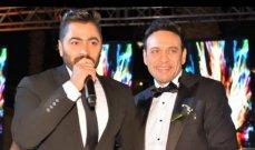 هكذا هنأ تامر حسني مصطفى قمر بزواج إبنه - بالصور