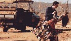 بالصور- ممثل أميركي يفاجئ حبيبته برحلة سفاري غير عادية