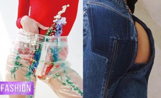 خاص وبالفيديو - بنطلون يكشف عن المؤخرة وثياب وأحذية شفافة..تعرفوا إلى أغرب صيحات الموضة