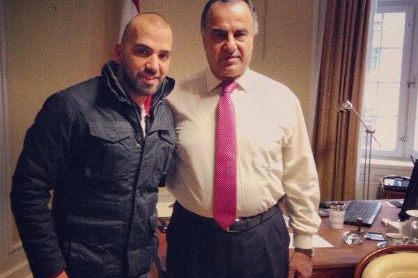 ناجي اسطا في السويد ويلتقي السفير اللبناني هناك