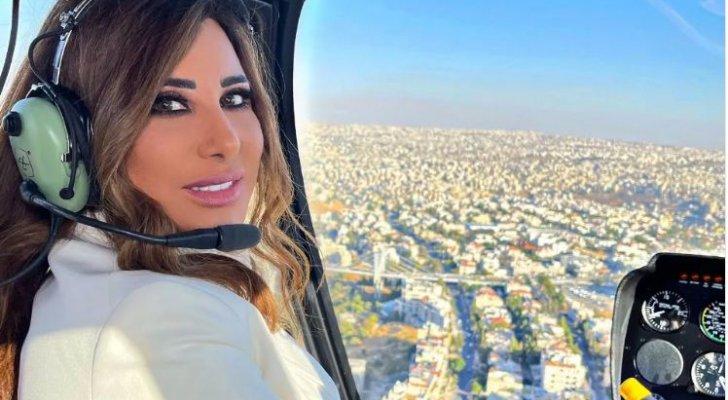 استقبال ملكي لنجوى كرم لدى وصولها إلى عمّان من محبيها-بالفيديو