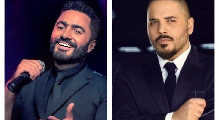 بالصور- رامي عياش وتامر حسني بالقميص نفسه.. فمن تفضلون؟